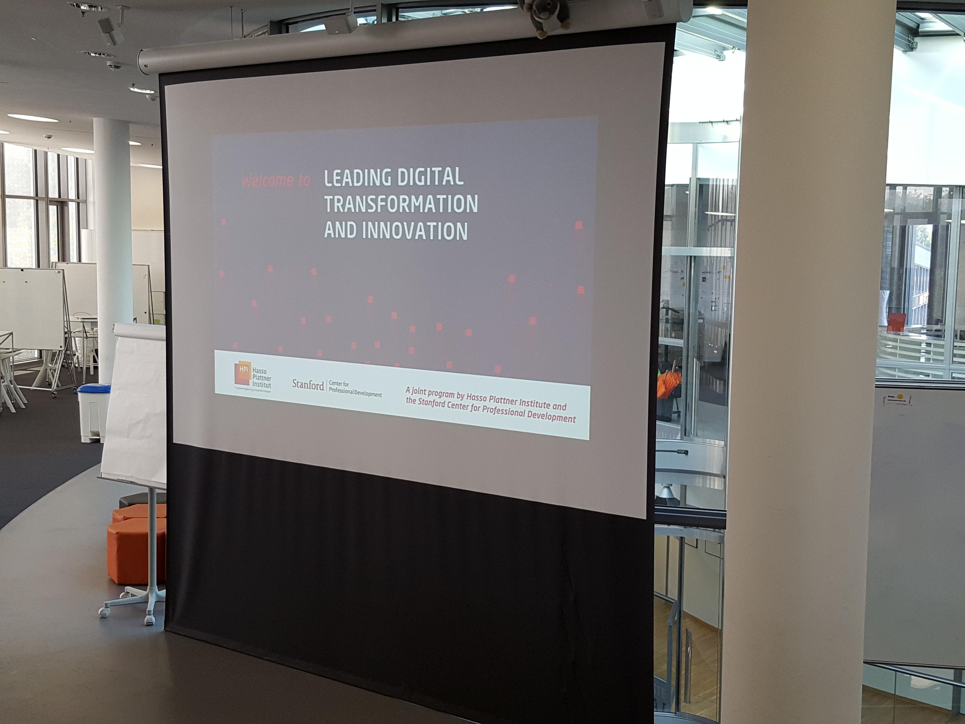 Digital Transformation and Innovation Program at HPI