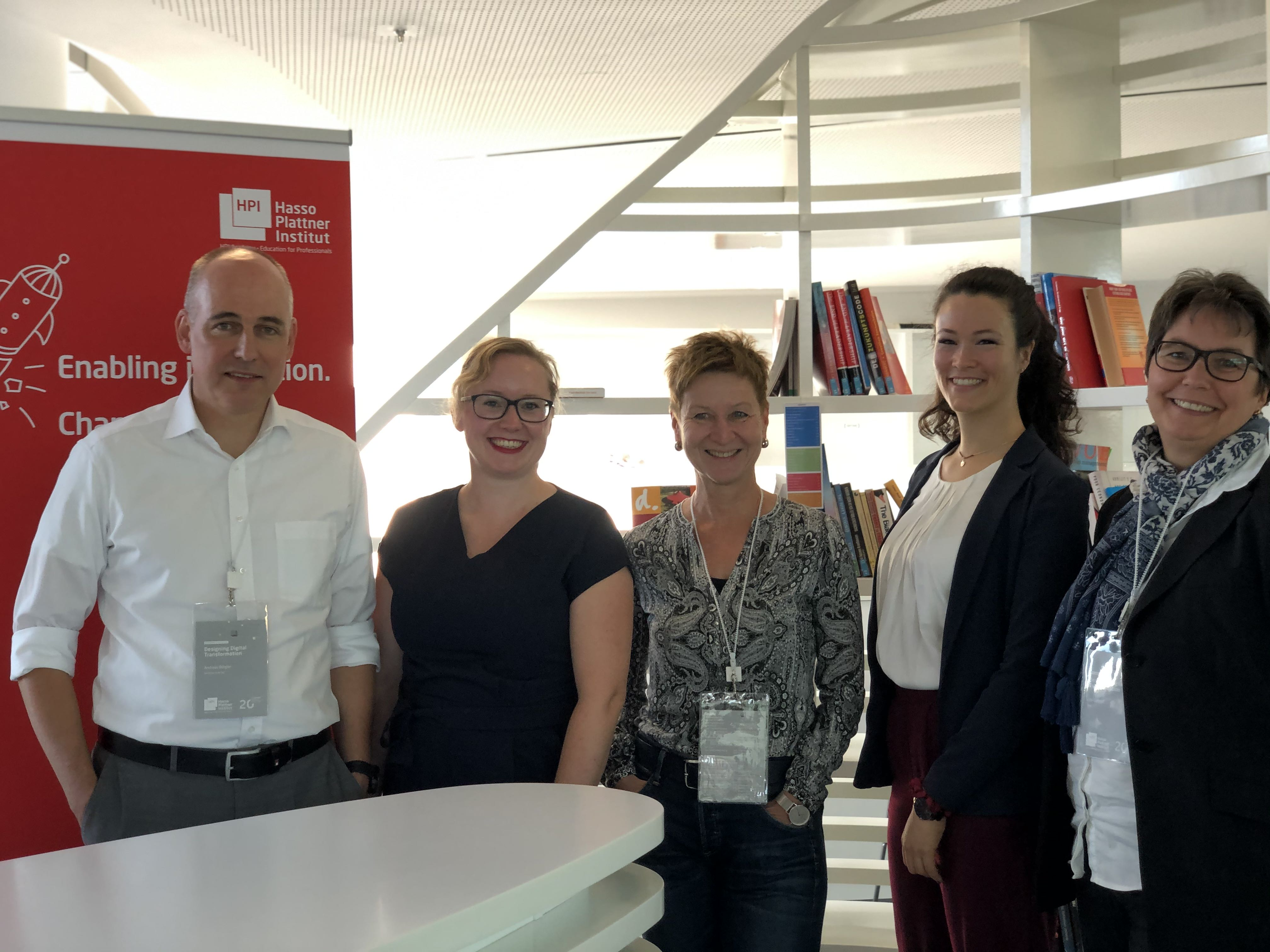 Andreas Bürgler (DB), Flavia Bleuel, Gabriele Schmidt (Pons), Selina Mayer, Ute Conradi (UCB) photo credit: Franziska Reich