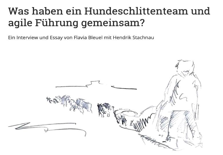 Flavia Bleuel: Hundeschlittenrennen und agile Führung